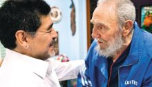 Argentina's soccer superstar Diego Armando Maradona in Cuba where he met Fidel Castro, the historical leader of the Cuban Revolution, December 2, 2016