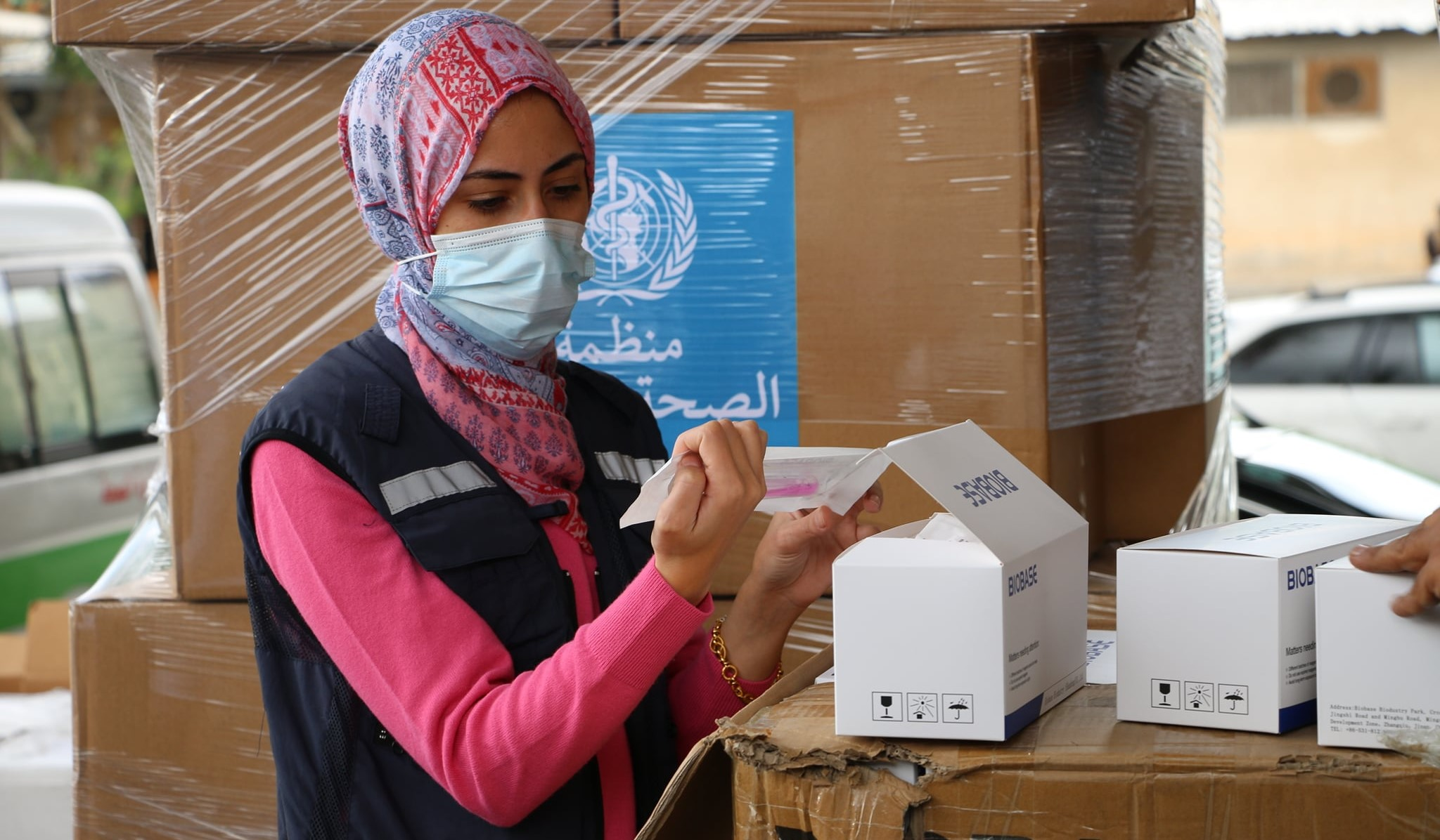 WHO medical aid to the Palestinian territories