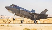 One of the F-35 fighter jets that arrived from the United States in 2019 takes off from the Nevatim Air Base in southern Israel.