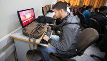 Palestinian students in the Gaza Strip