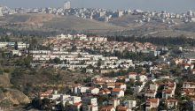An illegal Israeli settlement near Jerusalem