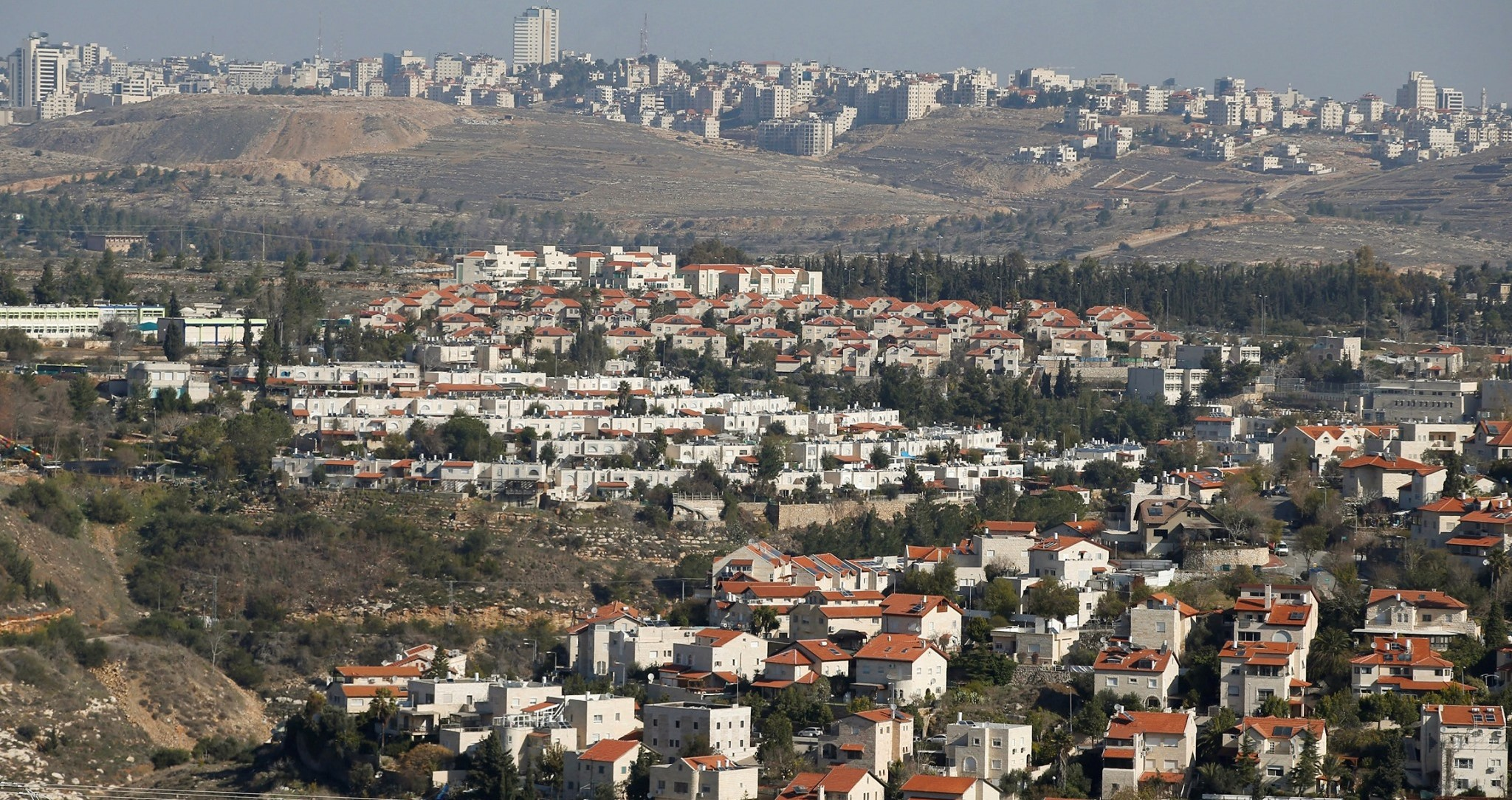 An illegal Israeli settlement near Jerusalem