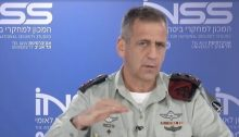 Israel's military Chief of Staff Lt. General Aviv Kohavi addresses the audience of the Institute for National Security Studies' annual conference, January 26, 2021.