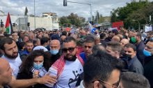 Thousands gathered in Jaljulia on Friday, March 12, to protest the government's lackadaisical campaign against crime in the Arab sector after the murder of 14-year-old Muhammad Abdelrazek Ades on Tuesday, March 9.