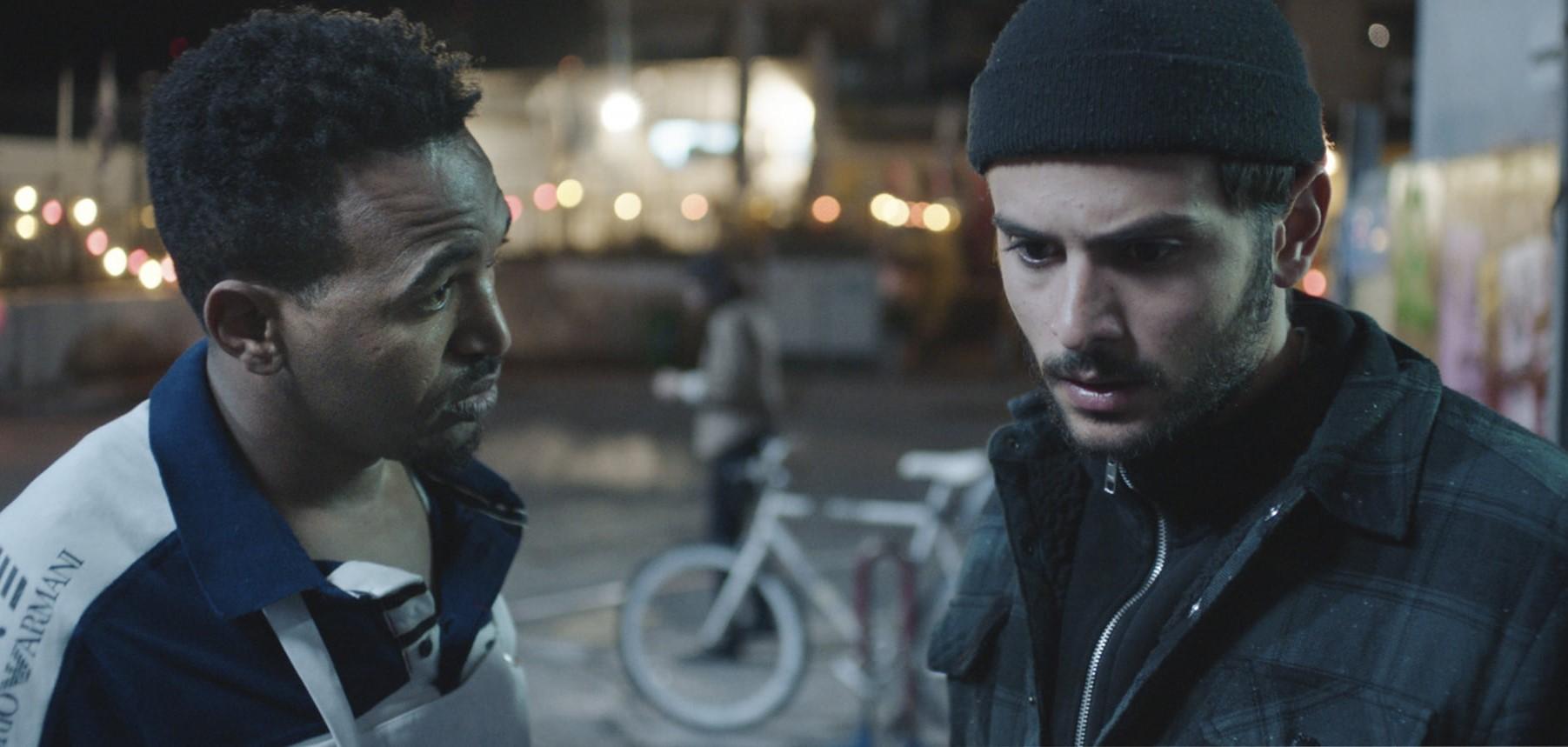 Dawit Tekelaeb, left, and Daniel Gad star in the Israeli Oscar contender White Eye.