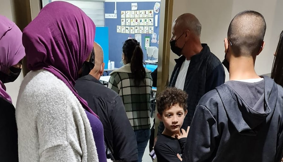 Arab voters in Nazareth, last Tuesday, March 23, 2021