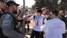 Israeli police confront protesters, last Saturday, May 1, in Sheikh Jarrah.
