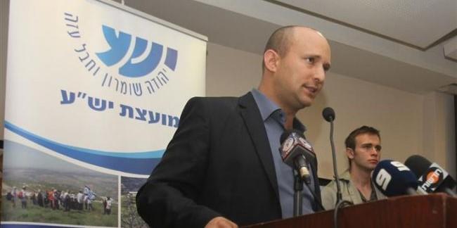 Naftali Bennett during his tenure as Chairman of the Yesha (Judea, Samaria and Gaza) Council