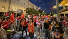 Jewish-Arab demonstration against the occupation in Central Tel -Aviv to mark more than half a century of Israeli rule of the Palestinian territories, June 5, 2021