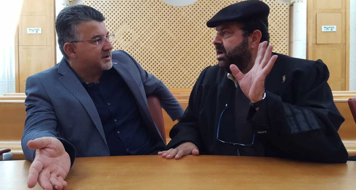 Former Hadash MK Dr. Yousef Jabareen (left) and Adalah's General Director, Dr. Hassan Jabareen during the High Court session, last Tuesday, June 22, 2021