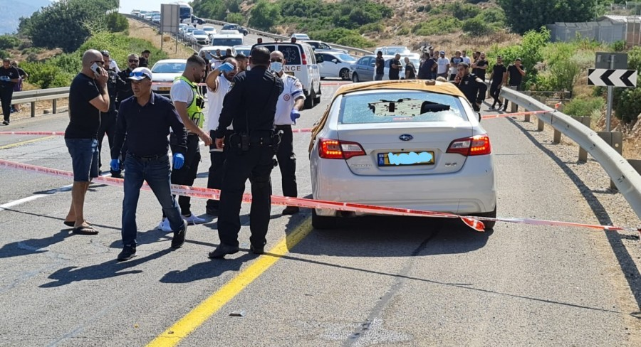 The scene of the shooting deaths of the Jaroushi family near the town of Eilabun in the Galilee, Saturday, June 26, 2021