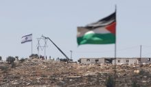 The about to be evacuated Israeli settler outpost of Evyatar erected on Palestinian lands adjacent to the village of Beita, July 3, 2021