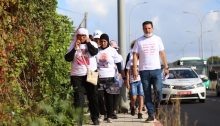 """MK Ayman Odeh took part in the three-day """"Mothers' March for Life"""" from Haifa to Jerusalem with the families of victims of violence in the Arab community, August 2020."""