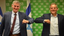 Meretz deputy minister and former lawmaker Yair Golan (left) with the chair of Meretz and Minister of Health Nitzan Horowitz