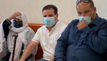 Hadash MK Ayman Odeh, head of the Joint List, and relatives of Yaqoub Musa Abu al-Qee'an during the High Court of Justice session, last week Thursday, September 9, in Jerusalem