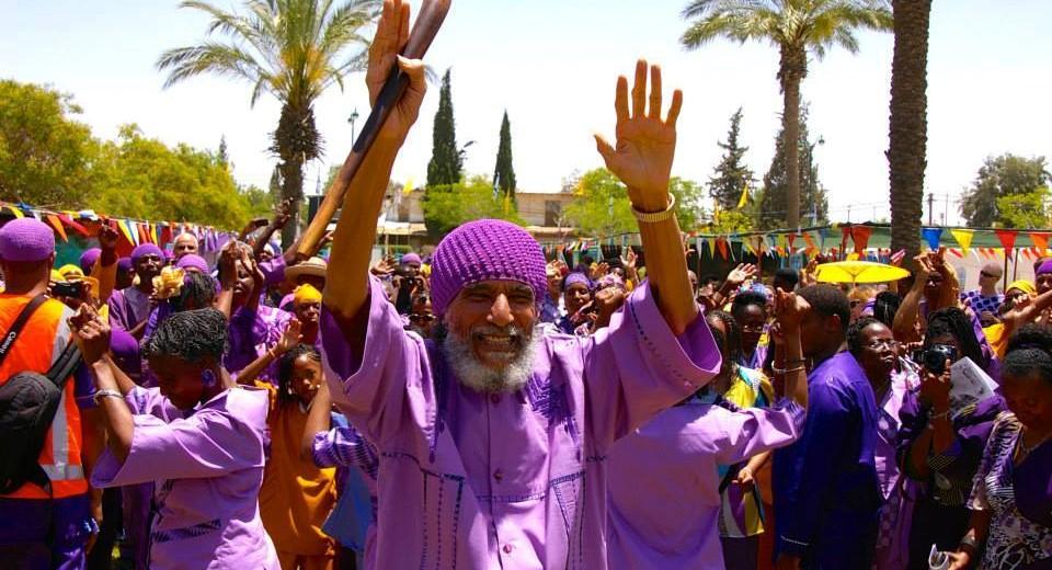 Members of the African Hebrew Israelite community in Dimona