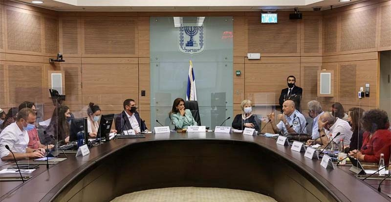 The Knesset Public Security Committee receives a briefing about the plans for confronting violence in Arab society, Sept. 13, 2021.